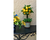 Lemon Tree Silk Topiary in The Villages FL, The Villages Florist Inc.