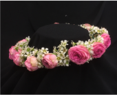 Floral Headpiece in Cerritos CA, The White Lotus Florist