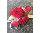 Red and Gold Corsage in Clearwater, Florida, Hassell Florist