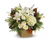 Teleflora's Snowy Woods Bouquet in Lubbock TX, The Fig and Flower