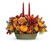 Teleflora's Country Oven Centerpiece in Johnstown NY, Studio Herbage Florist