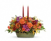 Teleflora's Country Sunrise Centerpiece in Johnstown NY, Studio Herbage Florist