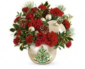 Teleflora's Classic Pearl Ornament Bouquet in Dallas TX, Petals & Stems Florist