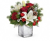 Teleflora's Frosted Forest Bouquet in Oakland CA, Lee's Discount Florist