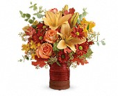 Teleflora's Harvest Crock Bouquet in Bradenton FL, Tropical Interiors Florist