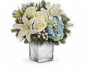 Teleflora's Silver Snow Bouquet in Dallas TX, Petals & Stems Florist