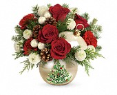 Teleflora's Twinkling Ornament Bouquet in Dallas TX, Petals & Stems Florist