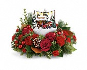 Thomas Kinkade's Festive Moments Bouquet in Kelowna BC, Burnetts Florist & Gifts