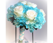 Timeless Turquoise and White Rose Bouquet in Clearwater, Florida, Hassell Florist