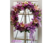 Lavender & Pink Wreath in Alvarado, Texas, Darrell Whitsel Florist & Greenhouse