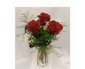 Triple Rose Vase in Grand Rapids MN, Shaw Florists