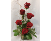 Half Dozen Red Roses- Stylized in Grand Rapids MN, Shaw Florists