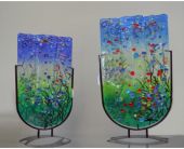 Multicolored glass flat vases in Depew NY, Elaine's Flower Shoppe