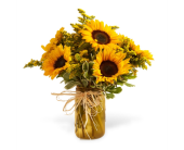 Country Sun Flower Bouquet in Big Rapids MI, Patterson's Flowers, Inc.