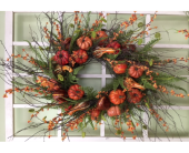 Pumpkin Gourd Wreath in Beaver PA, Snyder's Flowers
