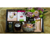 The Keepsake Bee Tea Crate in Reno NV, Bumblebee Blooms Flower Boutique