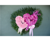Double Open Heart of Carnations with Orchid Accent in Islip NY, Flowers by Chazz