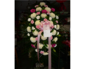 Standing Spray- Shades of Pink and White in Islip NY, Flowers by Chazz