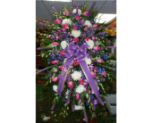 Standing Spray-Pink, Purple, Blue & White in Islip NY, Flowers by Chazz