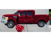 Custom Ford Truck in Islip NY, Flowers by Chazz