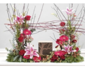 Custom Feminine Urn piece in Ammon ID, Petal Passion