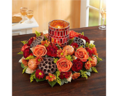 Shimmering Mosaic Centerpiece in Huntington WV, Archer's Flowers and Gallery