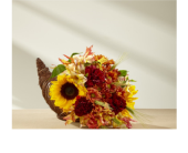 Fall Harvest Cornucopia in Noblesville IN, Adrienes Flowers & Gifts
