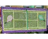 Custom Tennis Court in Islip NY, Flowers by Chazz
