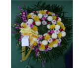Wreath- Mixed Colors in Islip NY, Flowers by Chazz