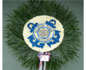 Custom Coast Guard Auxiliary Band Emblem in Islip NY, Flowers by Chazz
