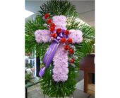 Cross- Purple and Red in Islip NY, Flowers by Chazz
