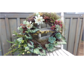 Succulent Grape Vine Wreath in Austin TX, Ali Bleu Flowers