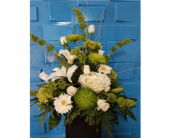 Green & White Designer Choice in Bossier City LA, Lisa's Flowers & Gifts