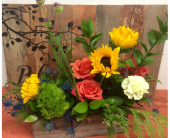 Rustic Wooden Box in Ammon ID, Petal Passion