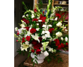 Red and White Tribute in Ammon ID, Petal Passion