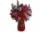 Teleflora's Delicate Heart Bouquet in Elkland PA, The Rainbow Rose