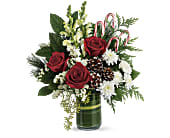 Teleflora's Festive Pines Bouquet in Hamilton ON, Joanna's Florist
