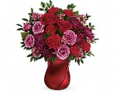 Teleflora's Mad Crush Bouquet in Elkland PA, The Rainbow Rose