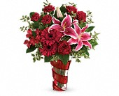 Teleflora's Swirling Desire Bouquet in Edmonton AB, Petals For Less Ltd.