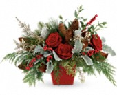 Winter Blooms Centerpiece in Carlsbad NM, Carlsbad Floral Co.
