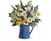 Teleflora's Bright Skies Bouquet in Odessa TX, A Cottage of Flowers