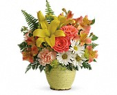 Teleflora's Clear Morning Bouquet in Greensboro NC, Botanica Flowers and Gifts
