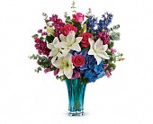Teleflora's Ocean Dance Bouquet in Elkland PA, The Rainbow Rose