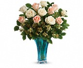 Teleflora's Ocean Of Roses Bouquet in Johnstown NY, Studio Herbage Florist