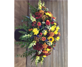 Falling Daisies Casket Cover in Smyrna GA, Floral Creations Florist