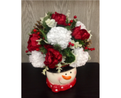 Sweet Snowman Bouquet in Xenia OH, The Flower Stop