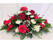 Berry Christmas Centerpiece in Edgewater FL, Bj's Flowers & Plants, Inc.