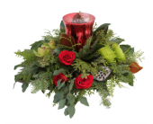 Merry and Joyful Centerpiece in Orangeville ON, Orangeville Flowers & Greenhouses Ltd