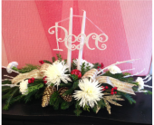 Peace on Earth centerpiece in Buffalo NY, Flowers By Johnny