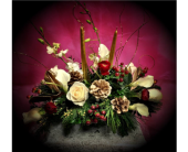 Calla Greetings Centerpiece in New Haven CT, The Blossom Shop